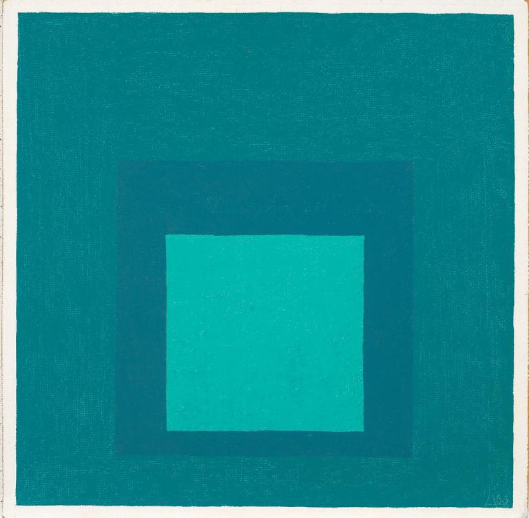 2016 Josef and Anni Albers Foundation : VG Bild‐Kunst Josef Albers, Study for Homage to the Square, 1963 .jpg