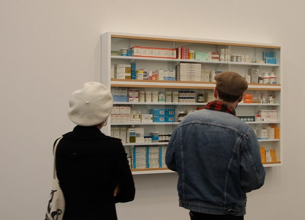 Visitors to Frieze New York at Gagosian Gallery's Damien Hirst booth.jpg